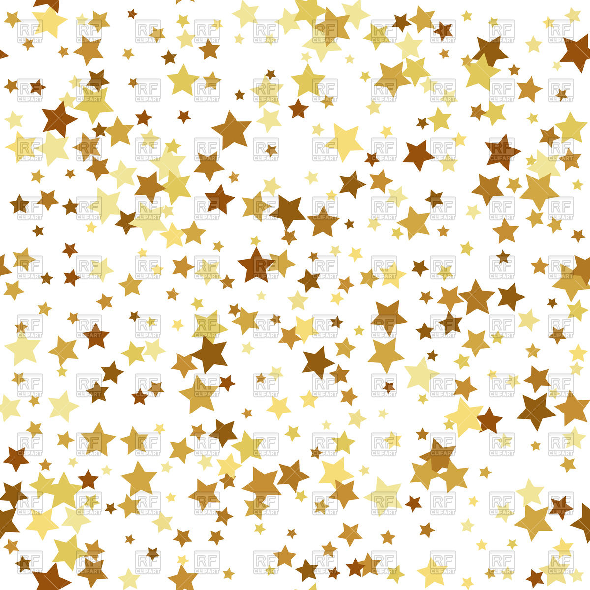 1200x1200 Gold Star Seamless Pattern Background Vector Image Vector