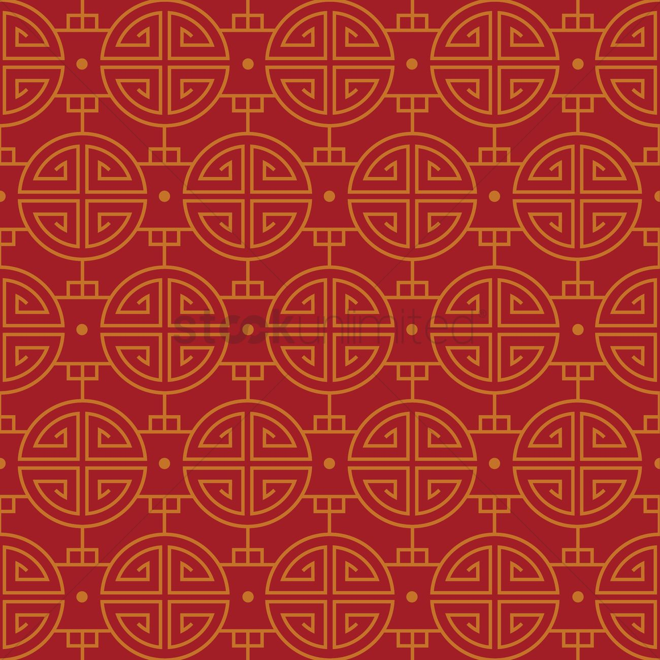 1300x1300 Chinese Pattern Background Vector Image