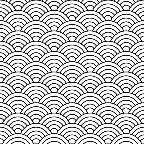 600x598 Seamless Fish Scale Pattern (Vector) Free Vector In Adobe