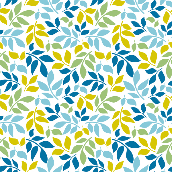 600x600 Cartoon Leaf Seamless Pattern Vector Free Download