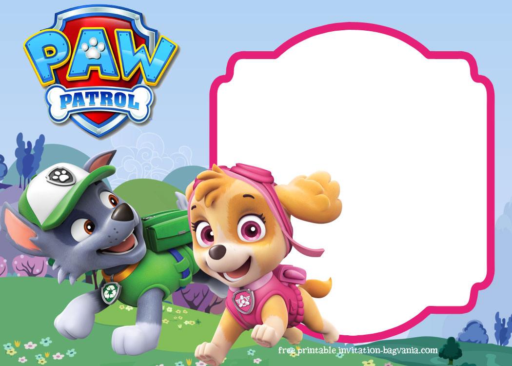 1050x750 Paw Patrol Birthday Invitations Free Inspirational Logo