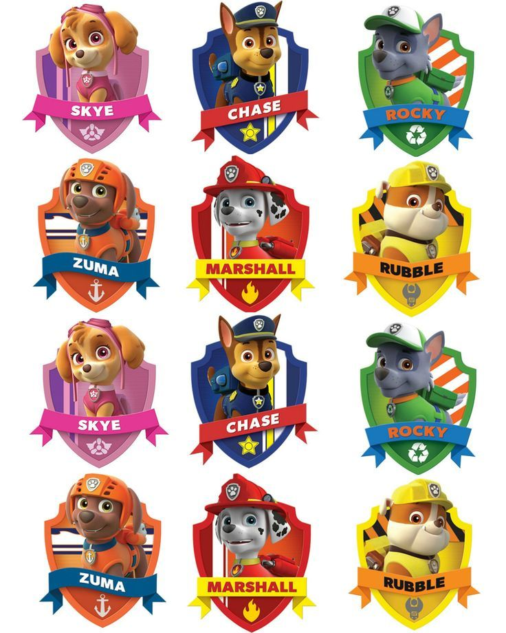 736x920 Paw Patrol Vector Images Badges Party Ideas