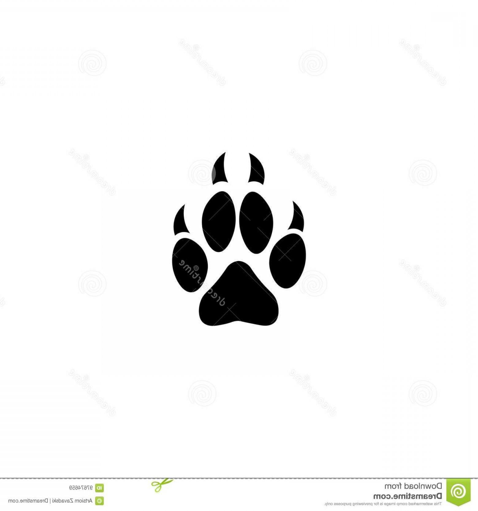 1560x1668 Stock Illustration Dog Paw Print Vector Icon White Background