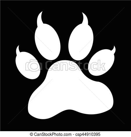 450x470 Animal Paw Print Icon Eps Vectors