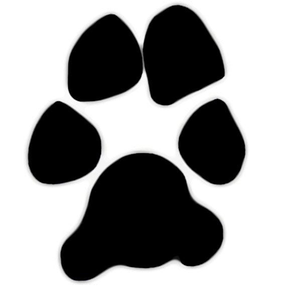 576x576 Large Dog Paw Print Clip Art Shape Created From A Real Paw Print
