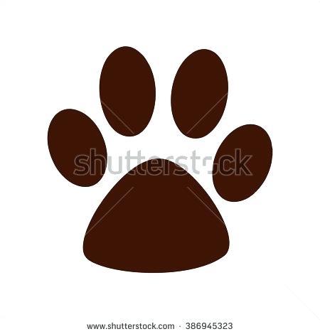 450x470 Bulldog Paw Print Clip Art Awesome Dog Paw Print Clip Art Stylized