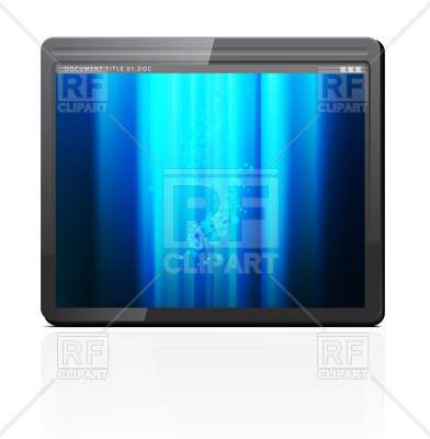 392x400 Touchpad Or Tablet Pc Vector Image Vector Artwork Of Objects