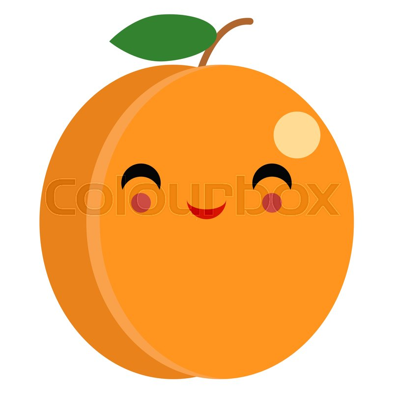 800x800 Peach Smiling Face Emoji With Smiling Eyes Vector Illustration