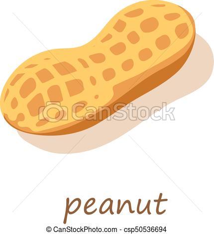 430x470 Peanut Icon, Isometric 3d Style. Peanut Icon. Isometric