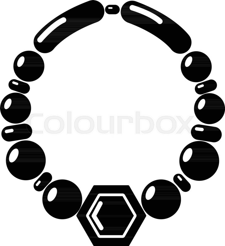 732x800 Pearl Necklace Icon . Simple Illustration Of Pearl Necklace Vector