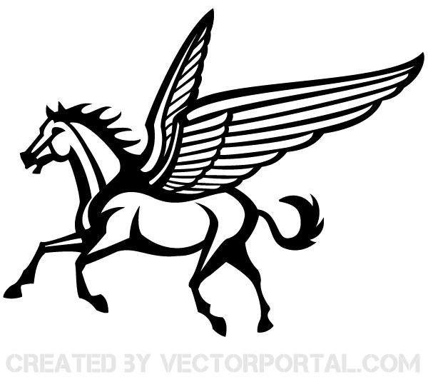 600x535 Free Pegasus Vector Image 123freevectors