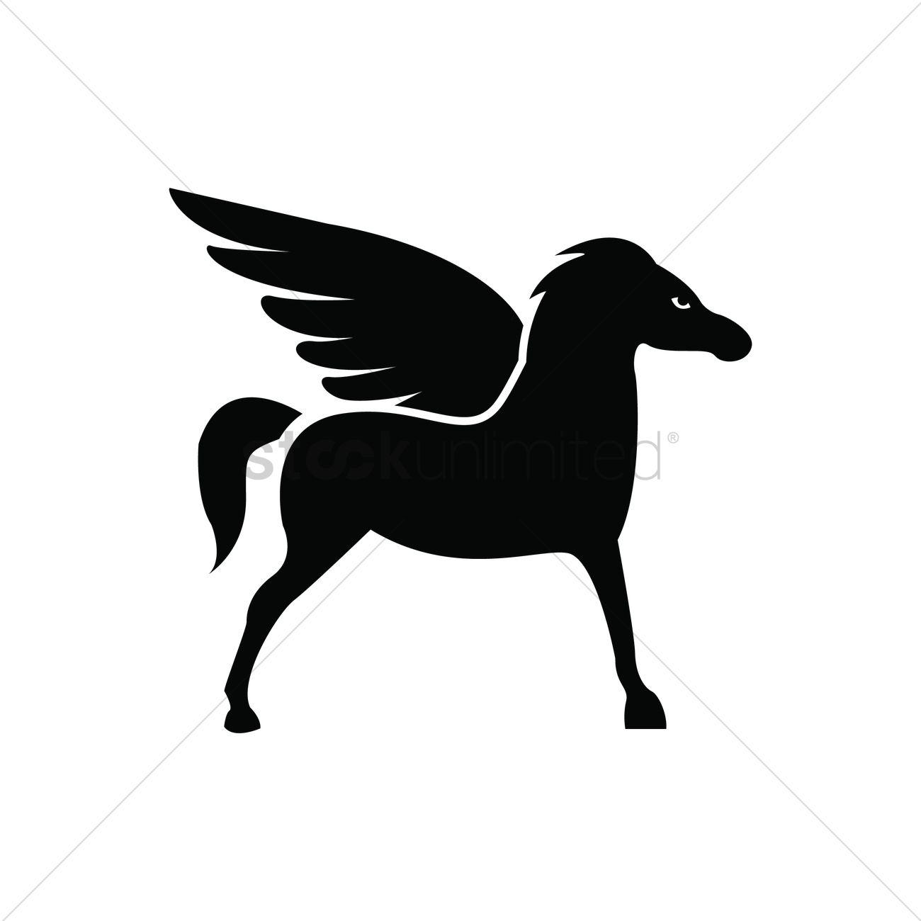 1300x1300 Pegasus Vector Image
