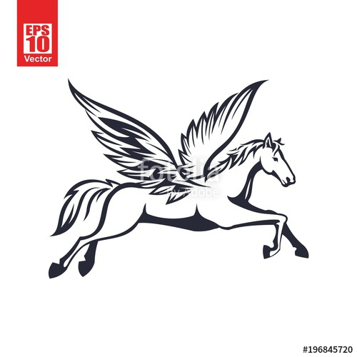 500x500 Pegasus Vector Illustration Stock Image And Royalty Free Vector