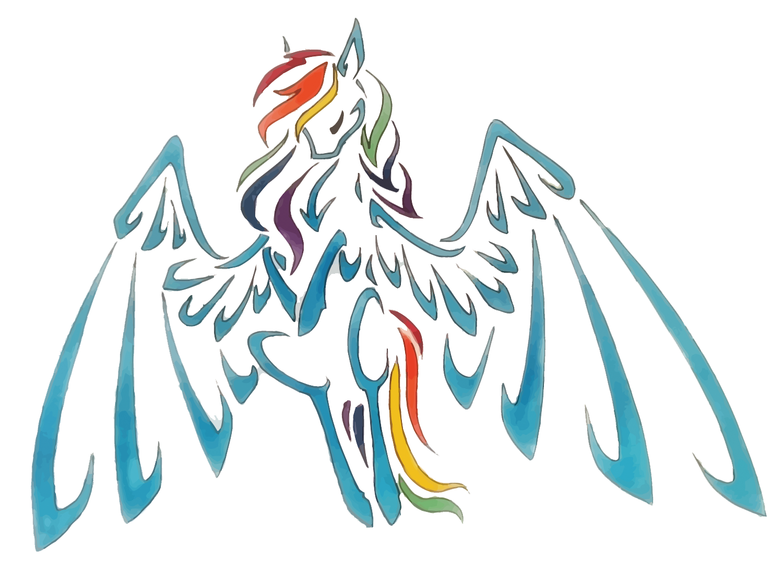 1500x1087 Rainbow Dash Pegasus