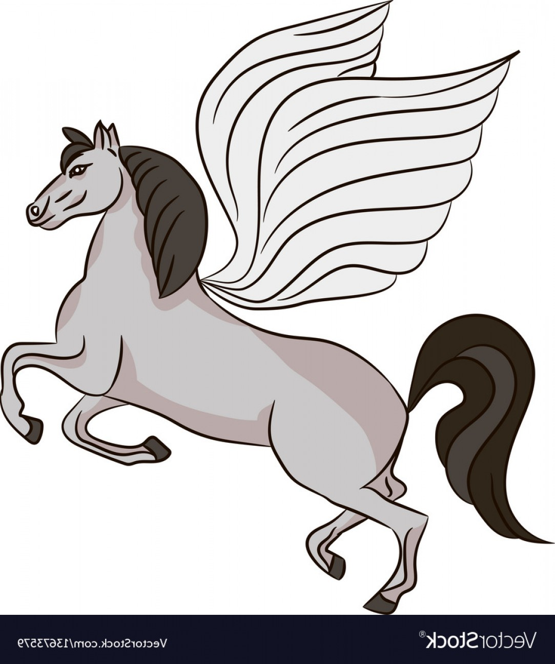 1083x1296 Silhouette Of A Horse With Wings Pegasus Vector Arenawp