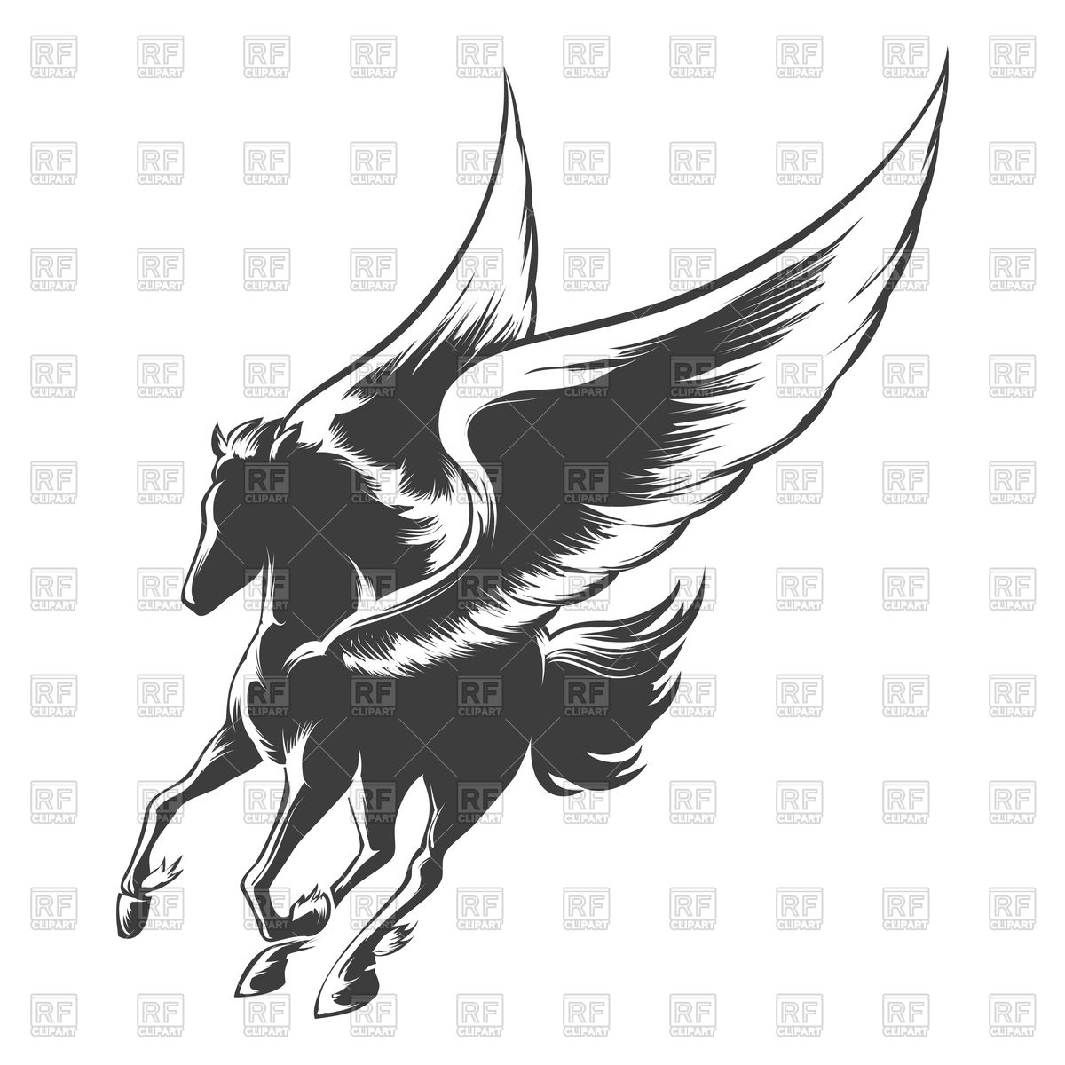 1200x1200 Winged Horse Pegasus Vector Image Vector Artwork Of Plants And