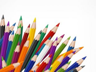 310x233 Colorful Pencil Background Free Vector Free Vectors Ui Download