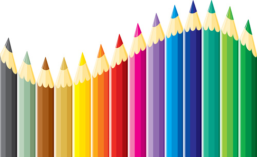 500x306 Different Colored Pencil Vector Set Free Vector In Encapsulated