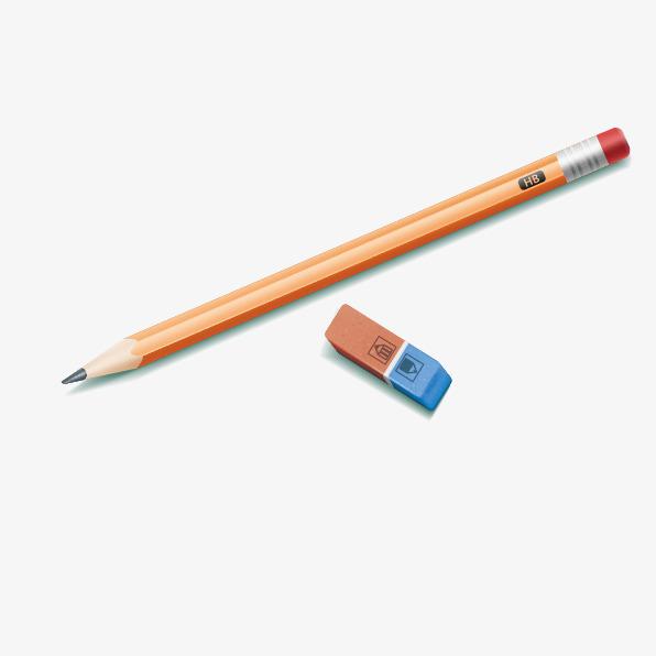 596x596 Vector Pencil And Eraser, Pencil Vector, Write, Rubber Vector Png