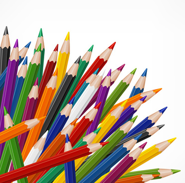 372x368 Colored Pencils Free Vector Download (24,531 Free Vector) For