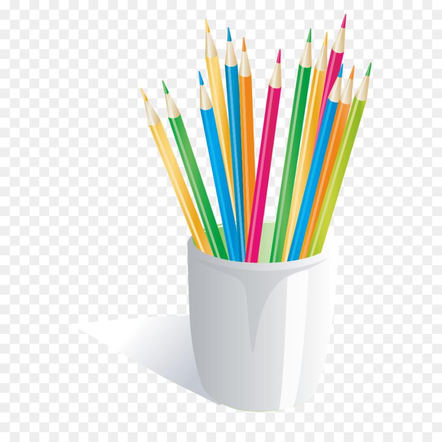 900x900 Download Colored Pencil Crayon Icon Color Pencil Vector Material