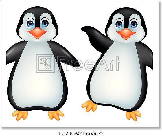 560x470 Free Art Print Of Funny Penguin. Vector Illustration Of Funny
