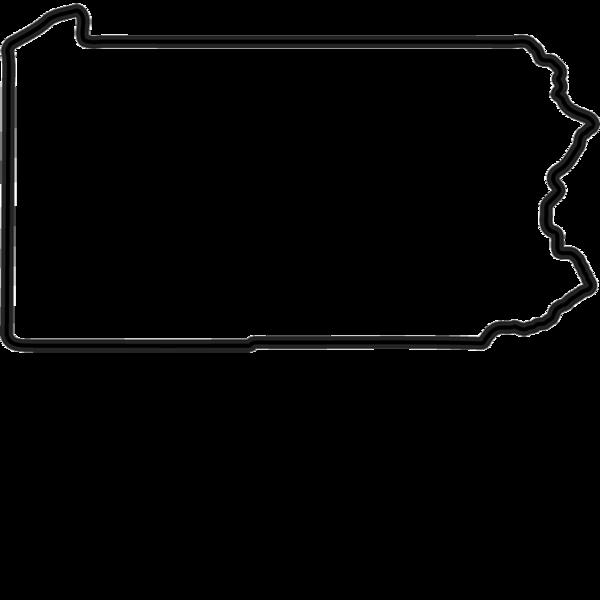 Pennsylvania Outline Vector