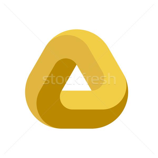 600x600 Penrose Triangle Icon. Impossible Triangle Shape. Optical Illusion