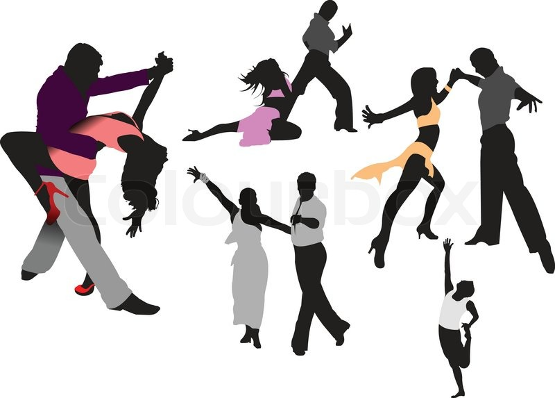 800x573 Dancing People. Vector Illustration Stock Vector Colourbox