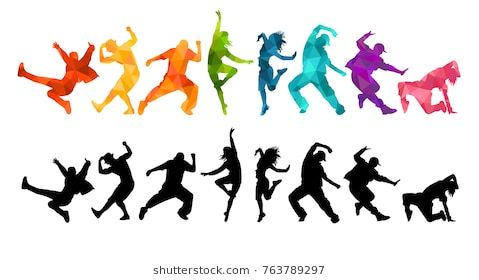 479x280 Detailed Vector Illustration Silhouettes Of Expressive Dance