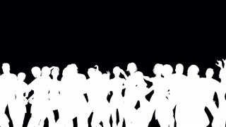 320x180 People Dancing Silhouette 3d Vector Animation Motion Background