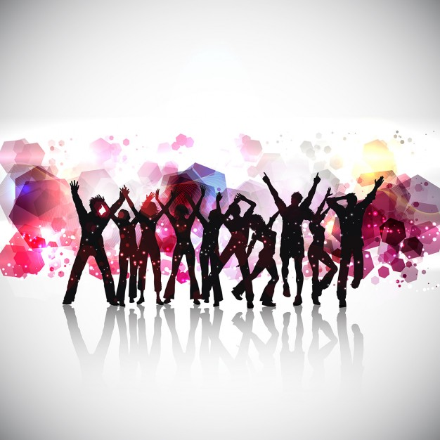 626x626 Silhouettes Of People Dancing Vector Free Download