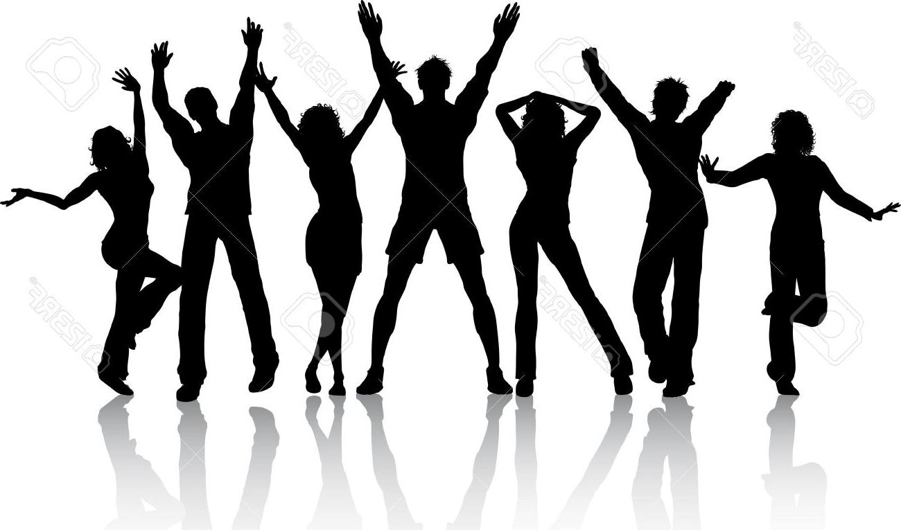 1300x765 Top Silhouettes Of People Dancing Vector Images
