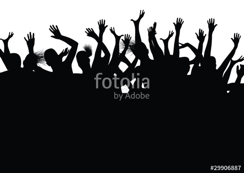 500x356 People Dancing And Having Hands In Their Air Stock Image And