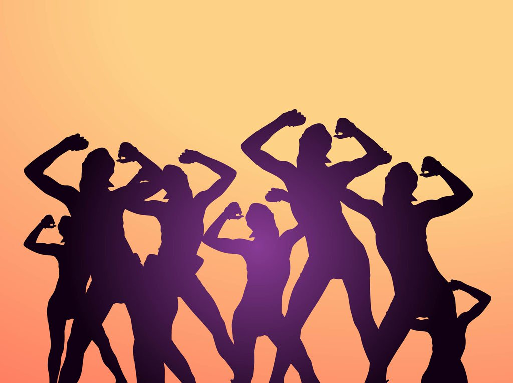 1024x765 Dancing Party People Vector Art Amp Graphics