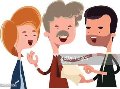 405x299 People Debating And Talking Vector Illustration Cartoon Character