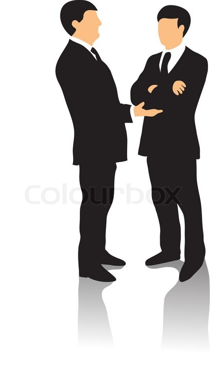 434x800 Two Business Men In Business Suit Talking And Gesticulating