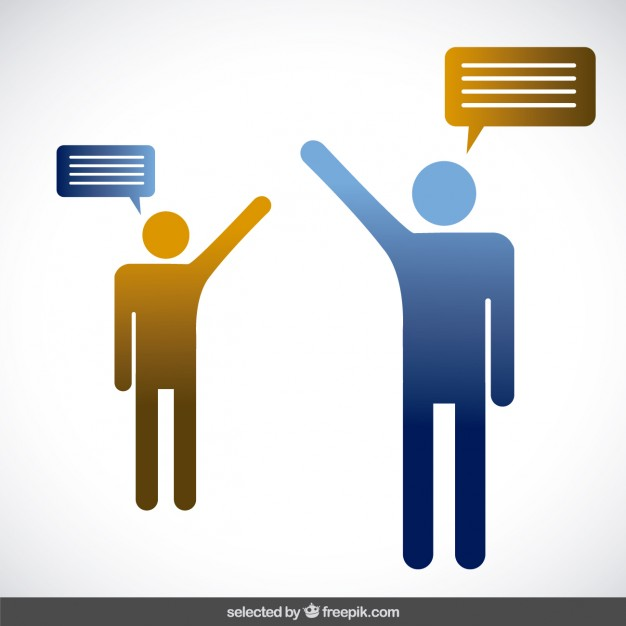626x626 Two Persons Talking Vector Free Download
