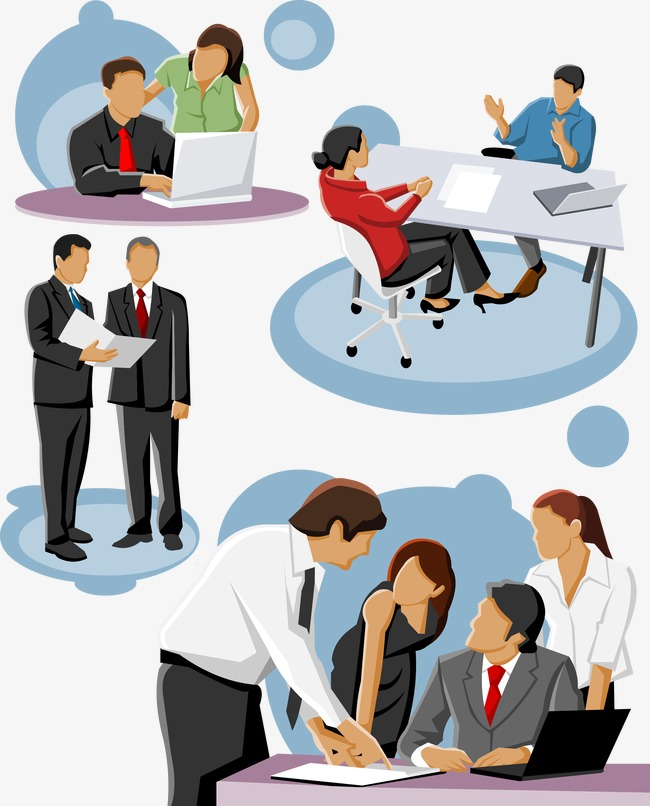 650x806 Vector Business People Talking, People Clipart, Vector, Business