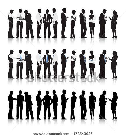 434x470 Vector Of Multi Ethnic Business People Talking