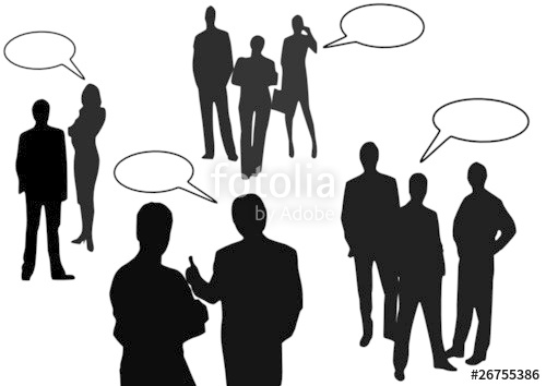 500x354 Business People Talking On A White Background Stock Image And
