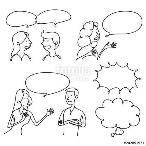 500x500 Graphic People Talking, Vector Stock Image And Royalty Free