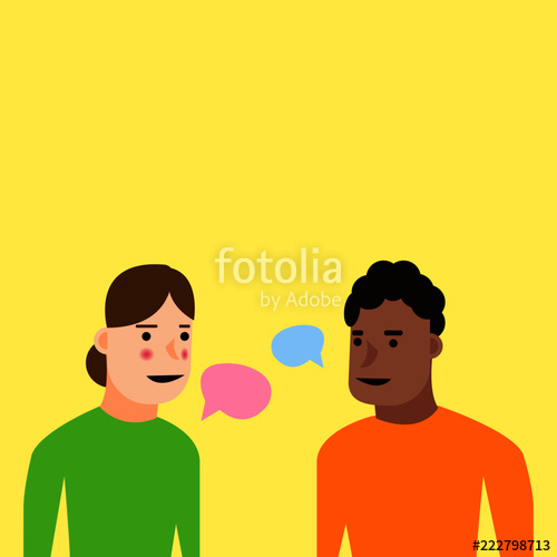 500x500 People Talking Vector Illustration For Web Stock Image And
