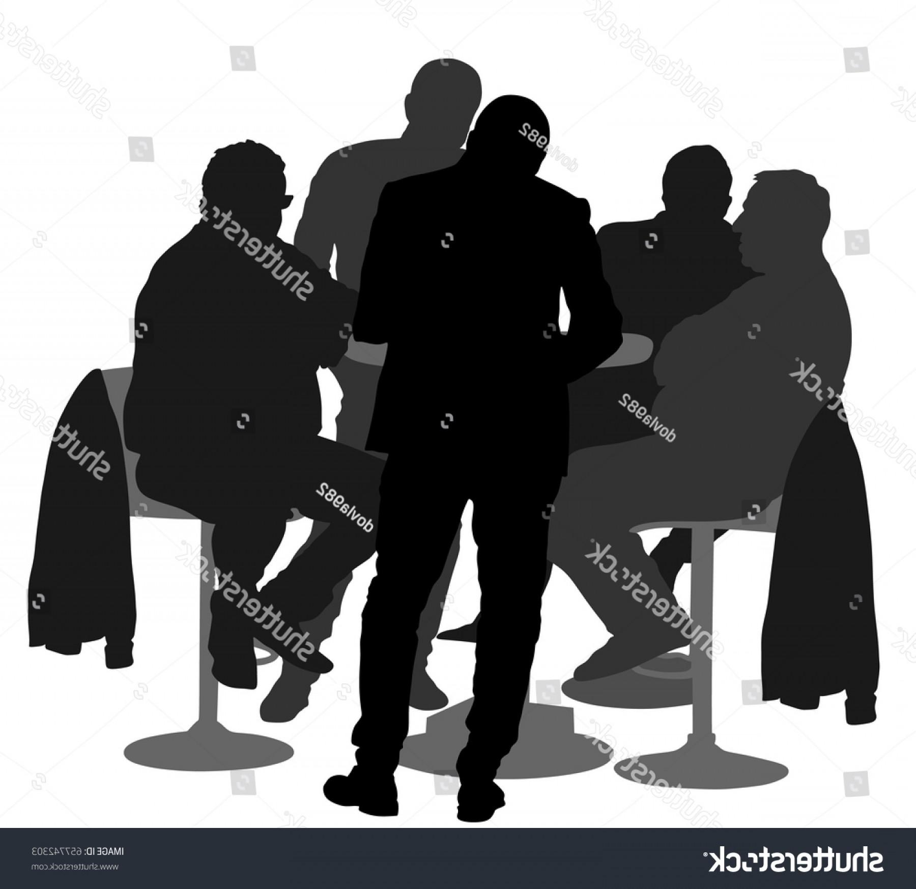 1800x1747 Many People Sitting Talking Vector Silhouette Lazttweet