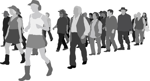 500x270 Free Vector People Silhouettes Free Vector Download (10,900 Free