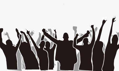500x300 People Silhouette Album, Cheer, People Vector Png And Vector For