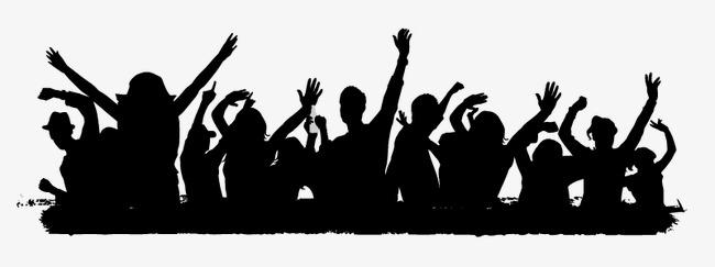 650x243 People Silhouette Album, Silhouette Figures, Cheer, People Vector