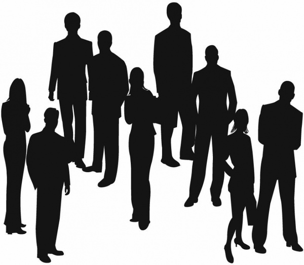 600x523 Silhouettes Of Business People Vector Free Vector In Encapsulated