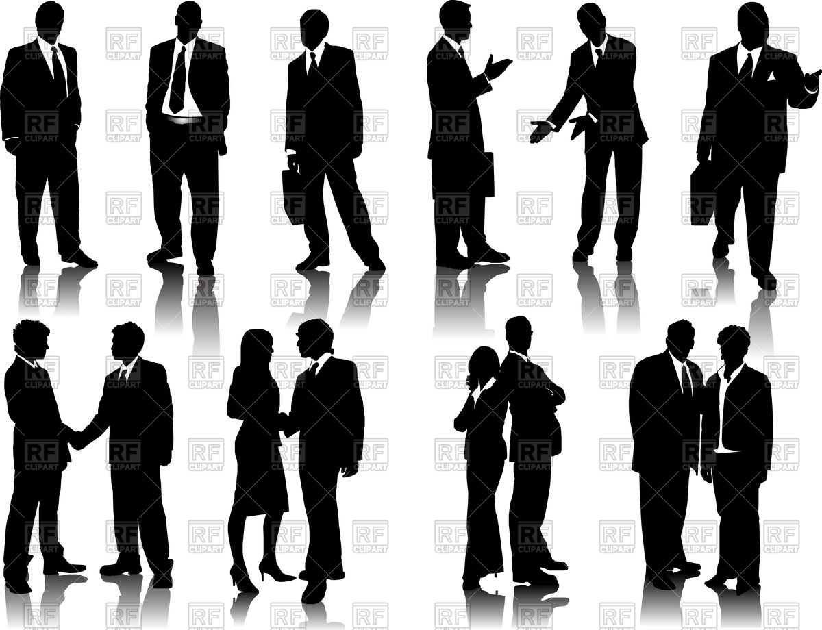 1200x920 Silhouettes Of Businessmen And Office People Vector Image Vector