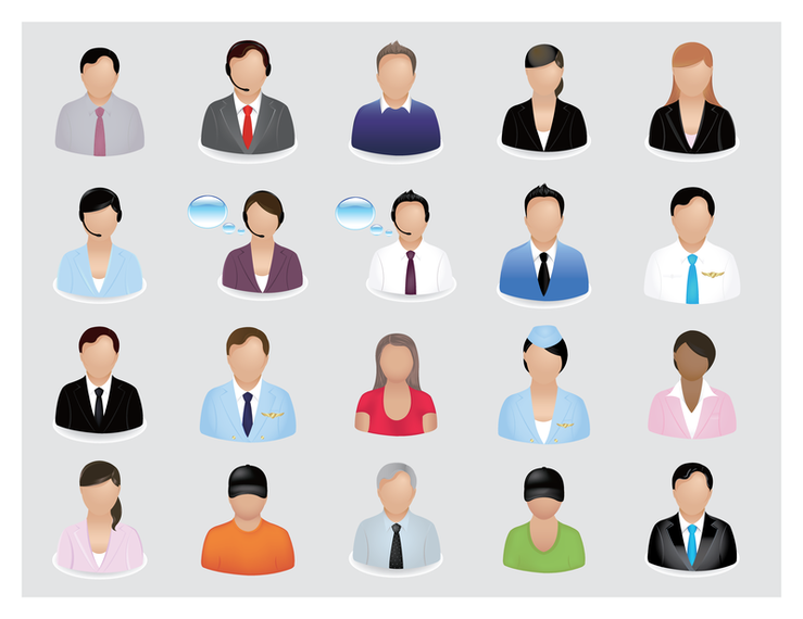 739x570 Business People Vector Icon